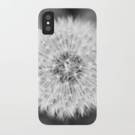 Black & White Dandelion iPhone Case