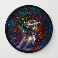 "coachella Wall Clocks featuring ""Coachella"" by ZABLIME"