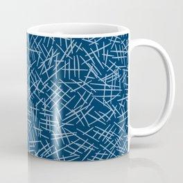 Classic Blue Scratches Coffee Mug