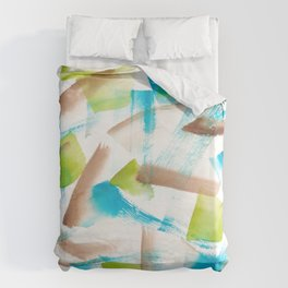 180719 Koh-I-Noor Watercolour Abstract 3 | Watercolor Brush Strokes Duvet Cover
