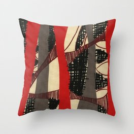 Coronary Contemporary 3 Throw Pillow