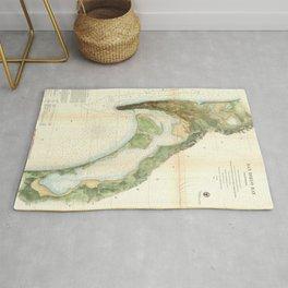 Vintage Map of The San Diego Bay (1857) Rug