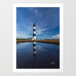 Carolina Blue Skies and Bodie Island Lighthouse Art Print