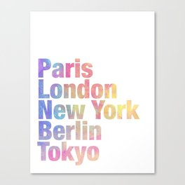 cool cities Canvas Print