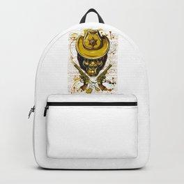 Monkey Cowboy Skull with Twin Guns Backpack