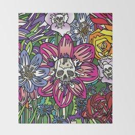 """Skull Garden III"" by Schmiedlin 2013 Throw Blanket"