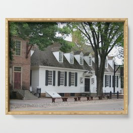 White Clapboard House - Colonial Williamsburg Serving Tray