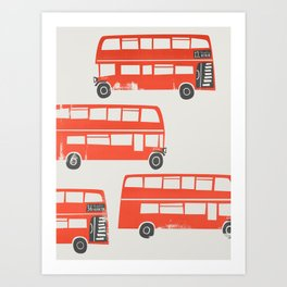 London Double Decker Red Bus Art Print