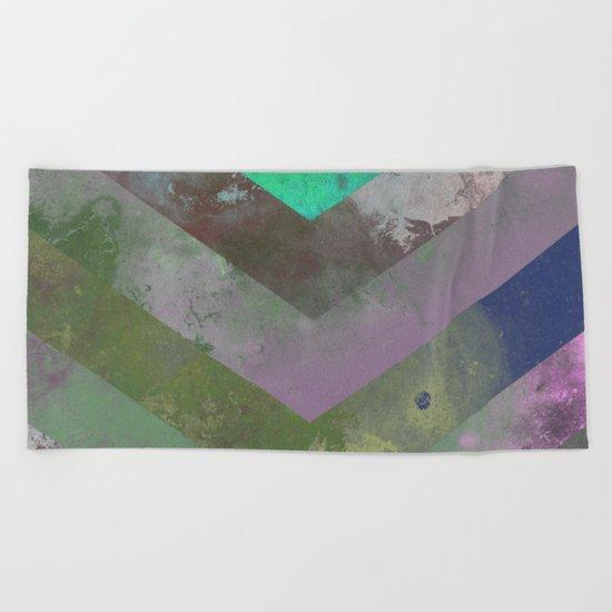 Look Down (Abstract, pastel, geometric artwork) Beach Towel