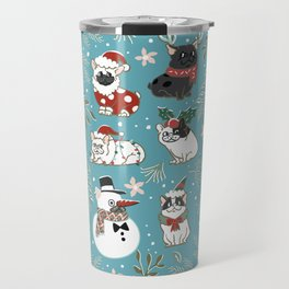 Christmas French Bulldog Travel Mug