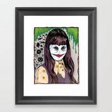 Barbara  Xmas 1975, Age 10 Framed Art Print