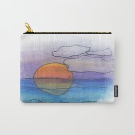 Sunset Dreaming - Watercolor Design Carry-All Pouch