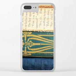 Antique Book Textures Clear iPhone Case