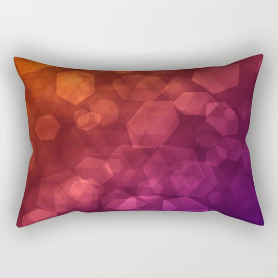 Abstraction . Red purple pattern . Rectangular Pillow