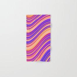 Colorful Wavy Stripes Hand & Bath Towel