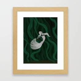 Enchanted Kelp Forest Mermaid Framed Art Print