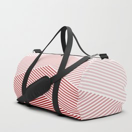Shades of Red Abstract geometric pattern Duffle Bag