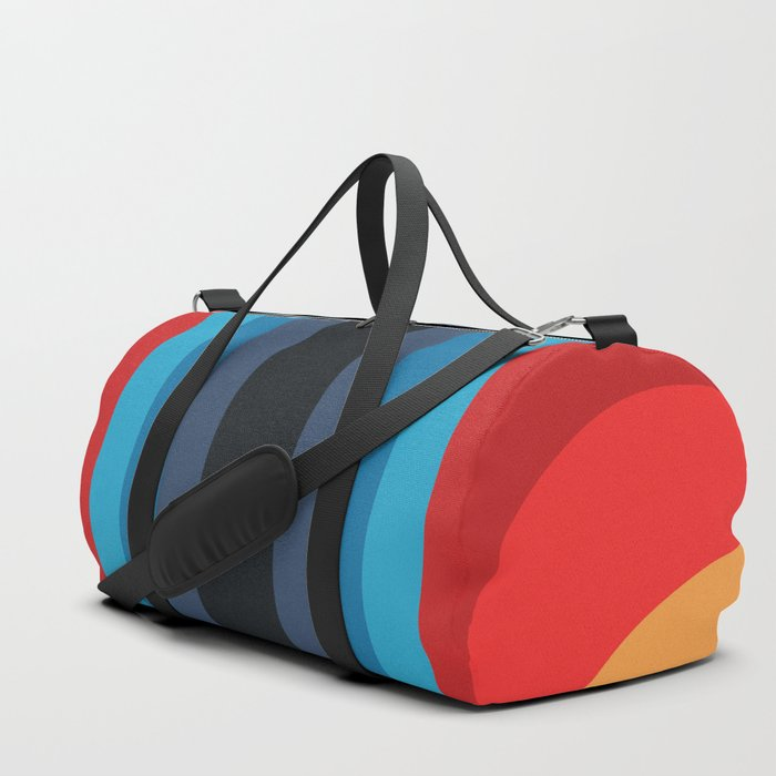 Retro Rainbow 01 Duffle Bag