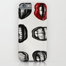 black lips red mouth Slim Case iPhone 6s