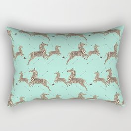 Royal Tenenbaums Zebra Wallpaper - Seafoam green Rectangular Pillow