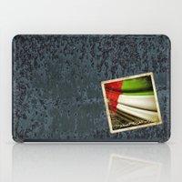arab iPad Cases featuring Grunge sticker of United Arab Emirates flag by Lulla