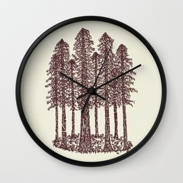 Cathedral Grove (Coastal Redwoods) Wall Clock