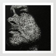 Monochrome portrait Art Print