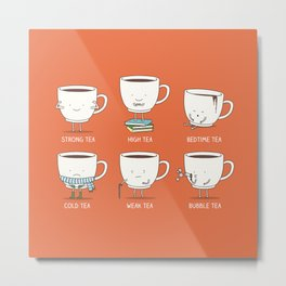 Types of tea Metal Print
