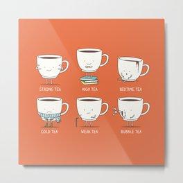 Types of tea Metal Print