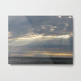Flying between the rays Metal Print