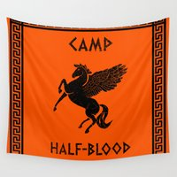 camp Wall Tapestries featuring Camp Half-Blood by Nana Leonti