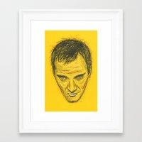 quentin tarantino Framed Art Prints featuring Quentin Tarantino by Treyson Bird