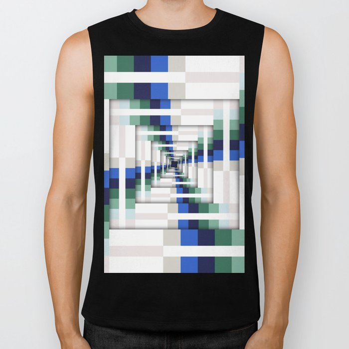 Layers of Colorful Stripes Biker Tank
