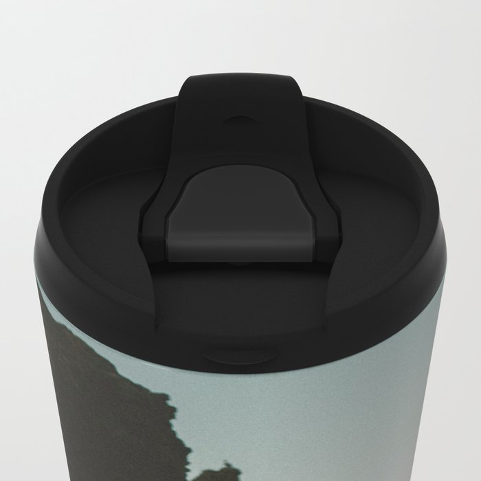 Oregon Coast Dark Ocean Metal Travel Mug