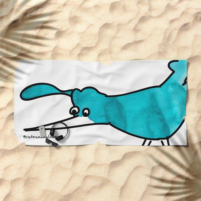 #6animalwesee Beach Towel