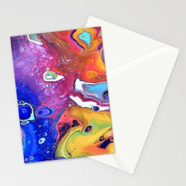 Wild and Crazy Art Flow Stationery Cards