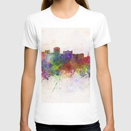 Jackson skyline in watercolor background T-shirt