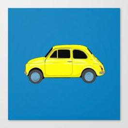 A tiny Fiat (blue) Canvas Print