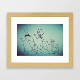 Ghosts That Hitchhike Framed Art Print