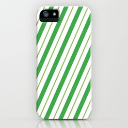 Green Peppermint - Christmas Illustration iPhone Case