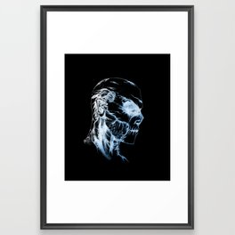 Azael Artic Skull Framed Art Print