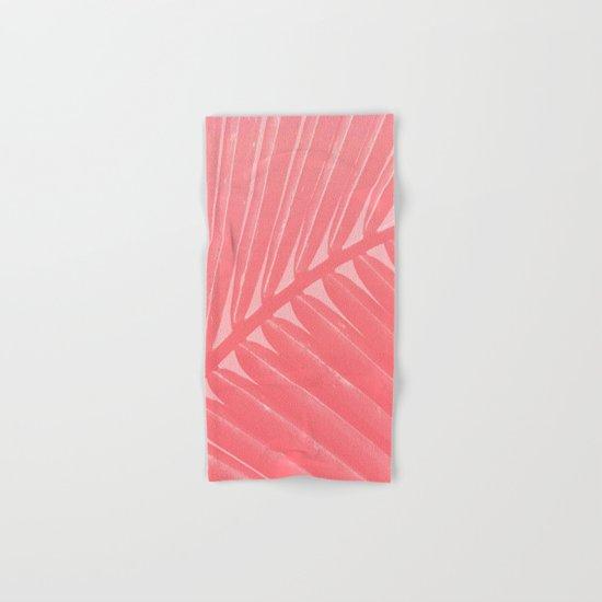 Hot Pink Palm Hand & Bath Towel