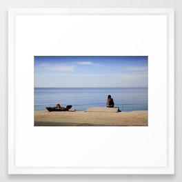 Waiting... Framed Art Print