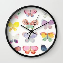 Painted butterflies Wall Clock