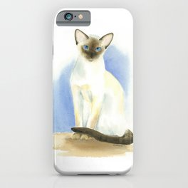 chocolate point siamese cat 2 iPhone Case