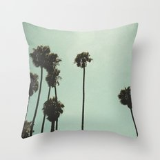 Space and the palms Throw Pillow