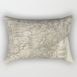 Map of the middle British colonies in North America - 1776 Rectangular Pillow
