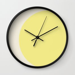 color field - yellow and cream Wall Clock