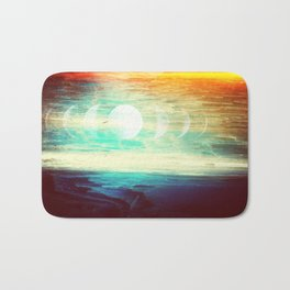 Lunar Phase Beach Bath Mat