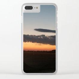 Sunset in corn Clear iPhone Case